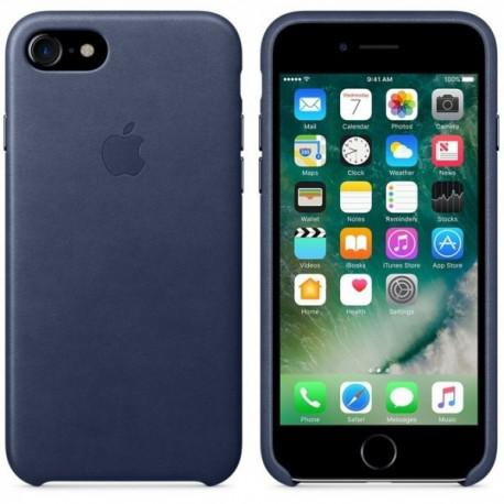 Apple iPhone 7 Leather Case Midnight Blue (MMY32ZMA/A) - 2