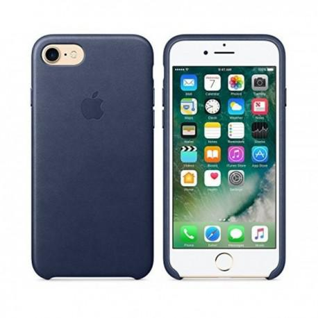 Apple iPhone 7 Leather Case Midnight Blue (MMY32ZMA/A) - 3
