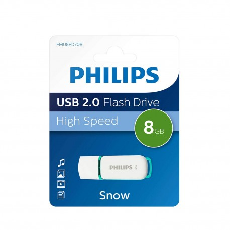 Philips 8GB Snow Edition USB 2.0 - 3