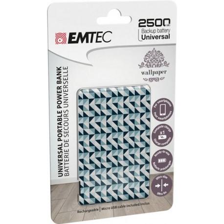Power Bank EMTEC ECCHA25U700WP04U, 2500mAh, USB - 2