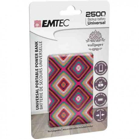 Acumulator extern EMTEC ECCHA25U700WP10U, 2500mAh, USB - 2
