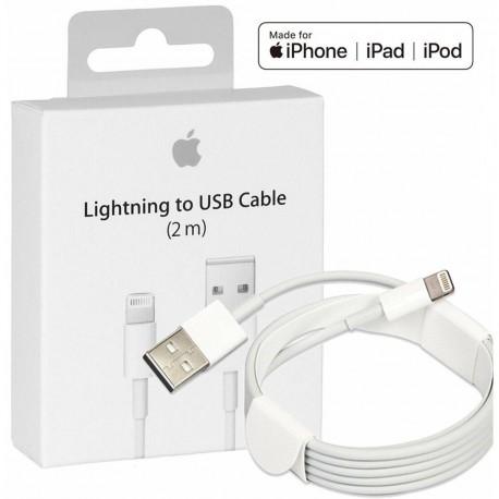 Original Apple cable, Lightning, USB, 2.0m, White